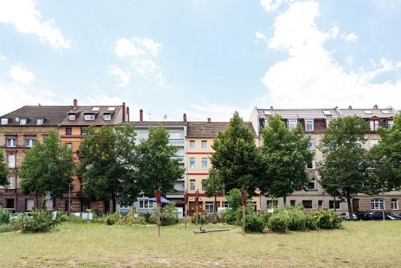 Häsuersilhouette in der Neckarstadt-West