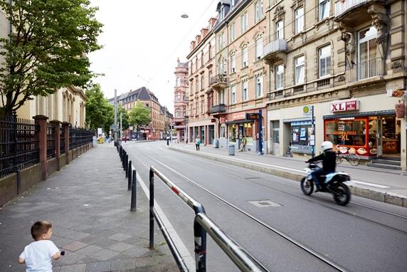 Blick in die Mittelstrasse